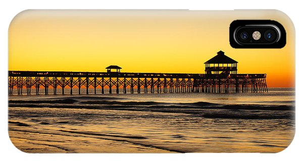 Sunrise Pier Folly Beach Sc IPhone Case