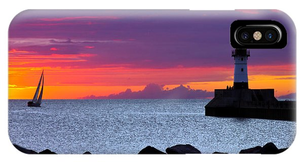 Sunrise Sailing IPhone Case