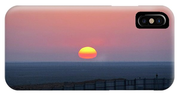 Sun Set iPhone Case - Sunrise Showing Atmospheric Refraction by Mark Williamson/science Photo Library