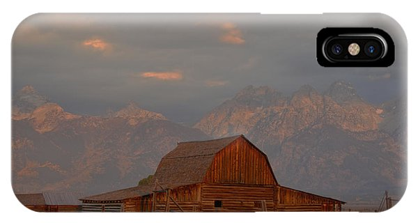 Sunrise Storm Clouds Over The Barn IPhone Case