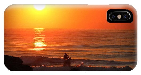 Sunrise Surfer IPhone Case
