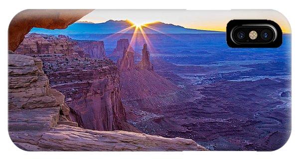 Sunrise Through Mesa Arch IPhone Case