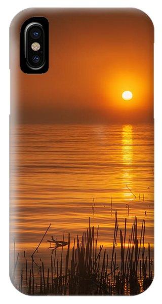 Lake Michigan iPhone Case - Sunrise Through The Fog by Scott Norris