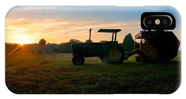 Sunrise Tractor IPhone Case