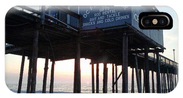 Sunrise Under The Oc Fishing Pier IPhone Case