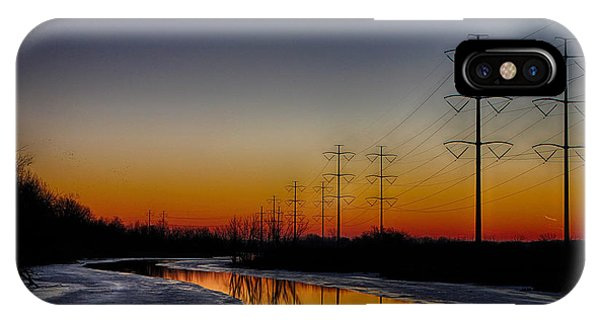 Sunrise Winter Reflection IPhone Case