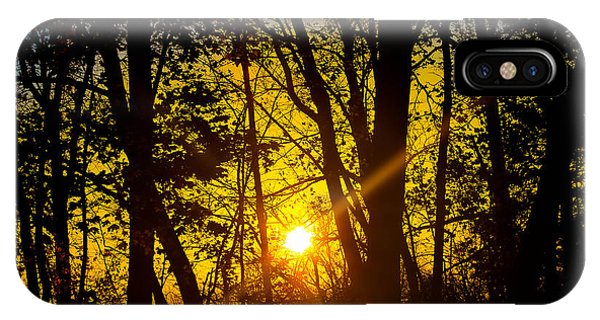 Sunrise With Blue - Horizontal IPhone Case