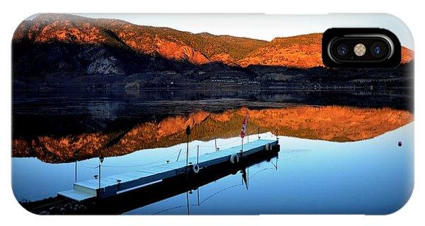 Sunrising - Skaha Lake 3-18-2014 IPhone Case