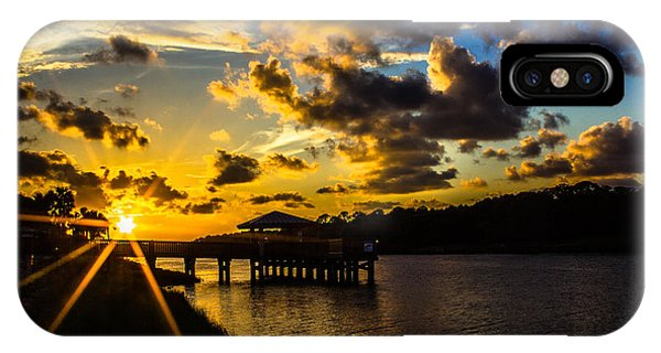 IPhone Case featuring the photograph Sunscaped Pier by Tyson Kinnison