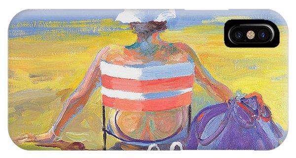 Sunbather iPhone Case - Sunseeker, 2005 Oil On Board by William Ireland