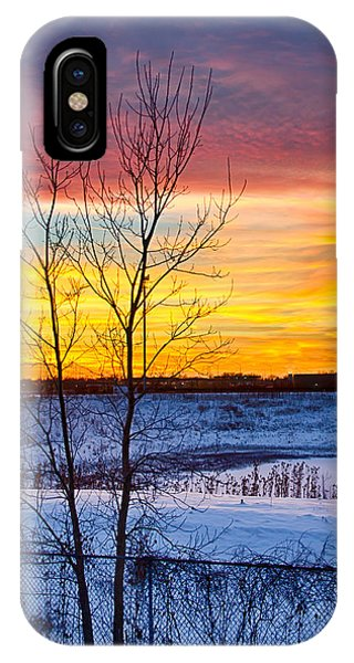 Sunset 1-3-14 Northern Illinois 002  Phone Case by Michael  Bennett