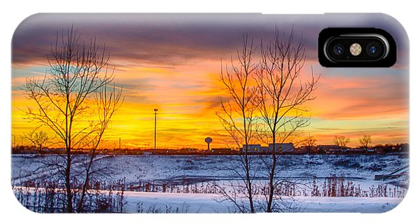 Sunset 1-3-14 Northern Illinois 003 Phone Case by Michael  Bennett