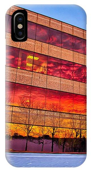 Sunset 1-3-14 Northern Illinois 004 Phone Case by Michael  Bennett