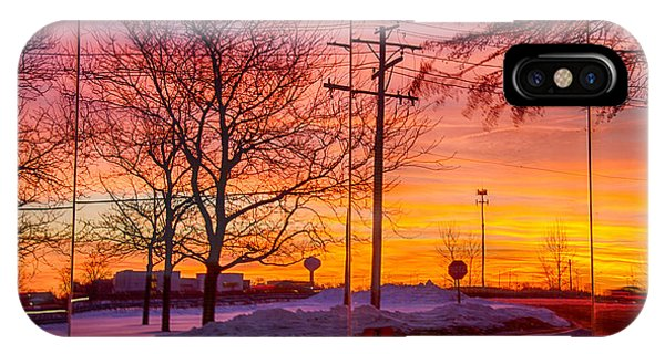 Sunset 1-3-14 Northern Illinois 005 Phone Case by Michael  Bennett