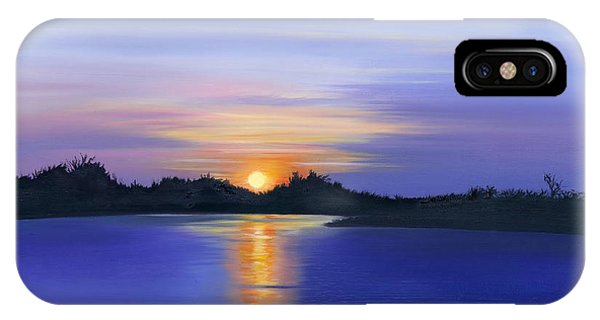 Sunset Across The River IPhone Case