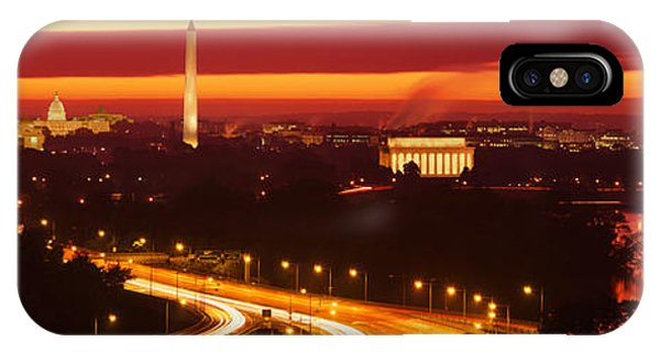 Jefferson Memorial iPhone Case - Sunset, Aerial, Washington Dc, District by Panoramic Images
