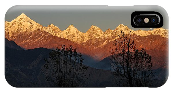 Sunset And Moonrise. The Rendezvous. IPhone Case