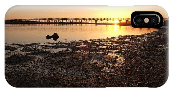 Sunset And Wooden Bridge In Ludo IPhone Case