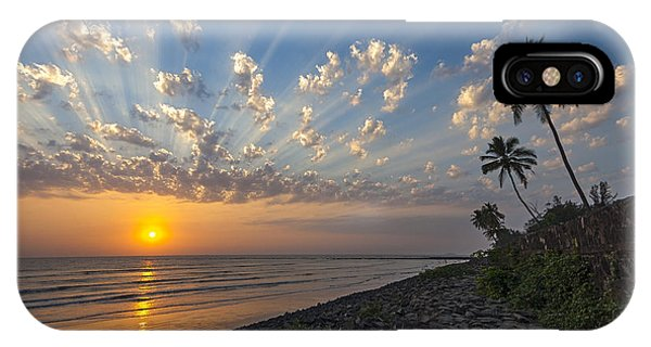 IPhone Case featuring the photograph Sunset At Alibag, Alibag, 2007 by Hitendra SINKAR