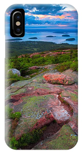 Sunset At Cadillac Mountain IPhone Case