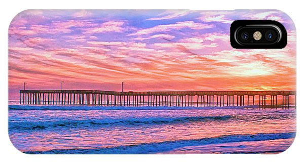 Sunset At Cayucos Pier IPhone Case