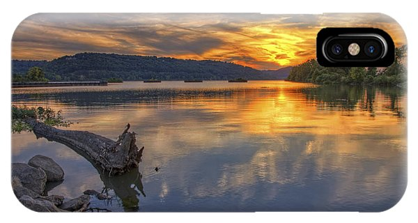Sunset At Cook's Landing - Arkansas River IPhone Case