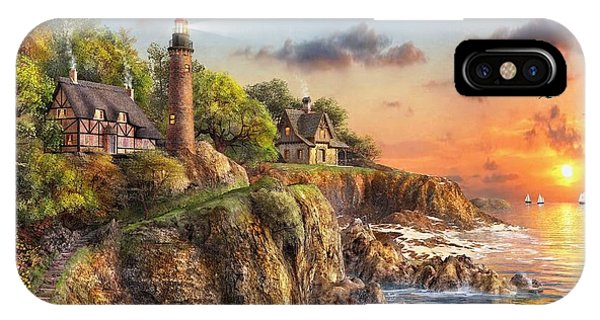 New England Coast iPhone Case - Sunset At Craggy Point by Dominic Davison