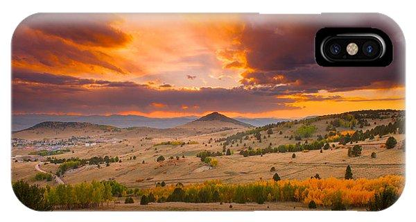 Sunset At Cripple Creek Overlook IPhone Case