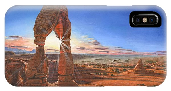 Desert iPhone Case - Sunset At Delicate Arch Utah by Richard Harpum