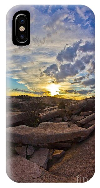 Sunset At Enchanted Rock State Natural Area IPhone Case