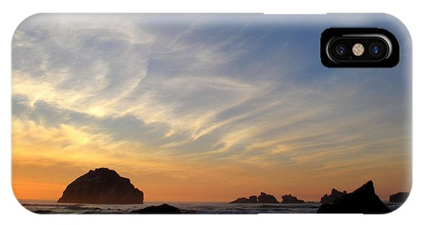 Sunset At Face Rock IPhone Case