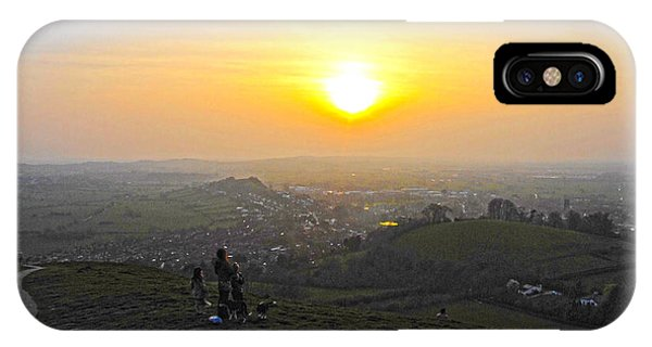 Sunset At Glastonbury Tor IPhone Case