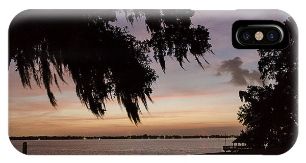 Sunset At Jefferson Island Phone Case by Kelly Morvant