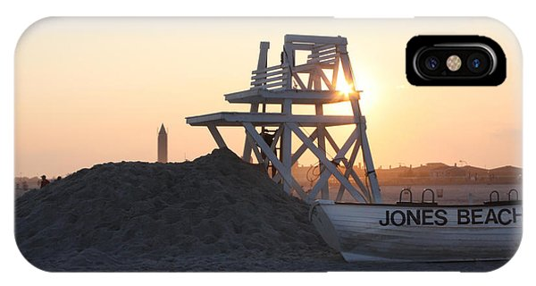Long Beach Island iPhone Case - Sunset At Jones Beach by John Telfer