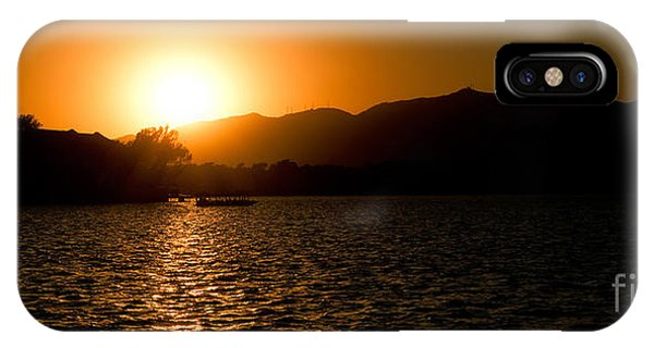 IPhone Case featuring the photograph Sunset At Kunming Lake by Yew Kwang