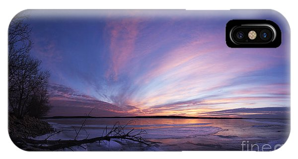 Sunset At Lovewell Lake Kansas IPhone Case