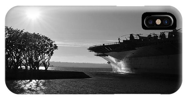 Uss Hornet iPhone Case - Sunset At Midway by Eva Kaufman