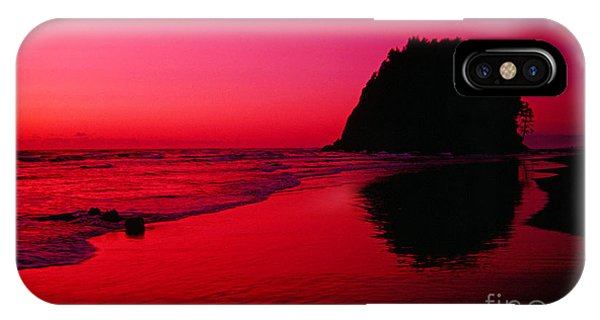 Sunset At Neskowin Beach- Proposal Rock IPhone Case