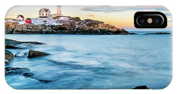 Sunset At Nubble Light-cape Neddick Maine IPhone Case