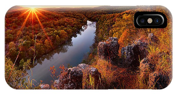 Sunset At Paint-rock Bluff IPhone Case