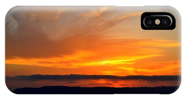Sunset At Point Loma From Coronado California IPhone Case