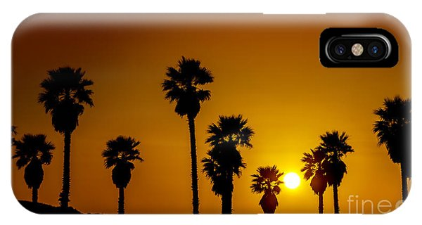 Sunset At The Beach Large Canvas Art, Canvas Print, Large Art, Large Wall Decor, Home Decor IPhone Case