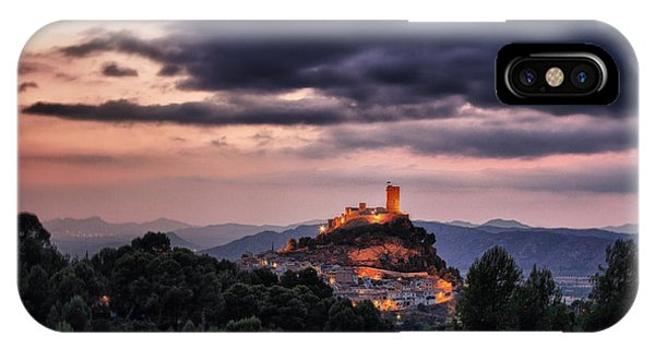 Sunset At The Castle IPhone Case