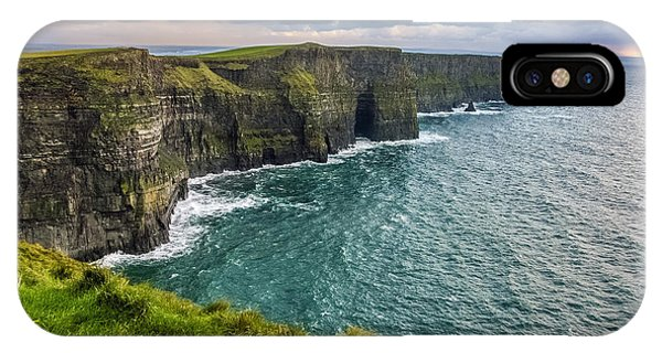 IPhone Case featuring the photograph Sunset At The Cliffs Of Moher by Pierre Leclerc Photography