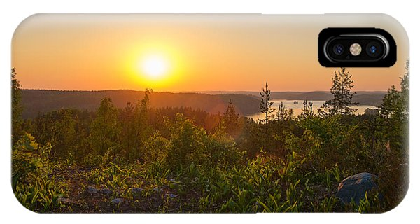 Sunset At The Lake Hiidenvesi IPhone Case
