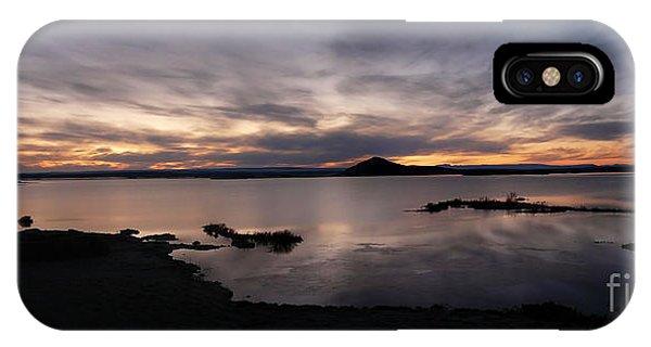 Sunset Over Lake Myvatn In Iceland IPhone Case