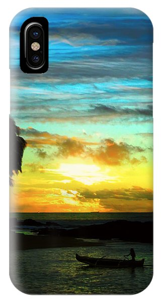 Sunset At The Luau IPhone Case
