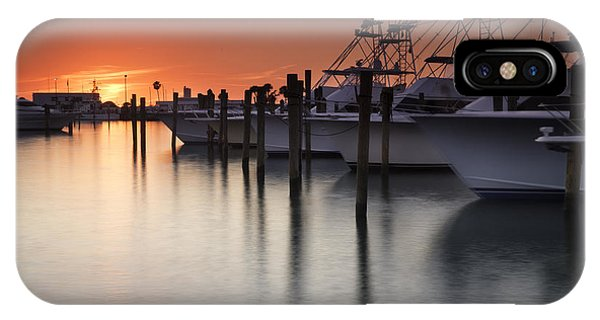 Sunset At The Pelican Yacht Club IPhone Case