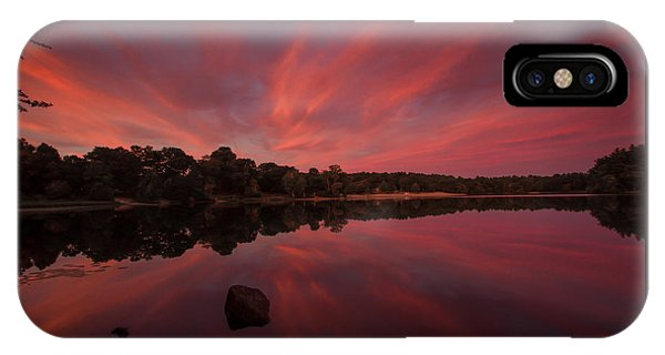 Sunset At The Pond IPhone Case