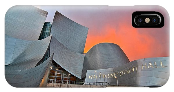 Gehry iPhone Case - Sunset At The Walt Disney Concert Hall In Downtown Los Angeles. by Jamie Pham